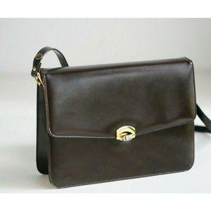 Vintage 50s 60s Dark Chocolate Bag